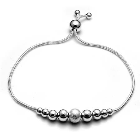 PULSERA BOLITA BRILLANTE 4 A 8MM - REGULABLE