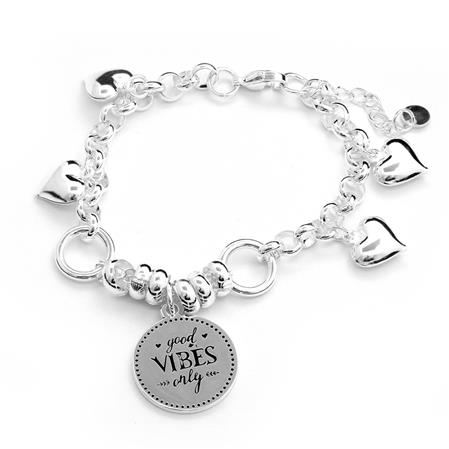 PULSERA GOOD VIBES ONLY - 18 A 21CM