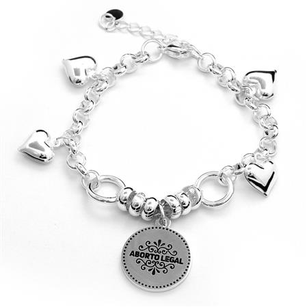 35 OFF - PULSERA ABORTO LEGAL - 18 A 21CM
