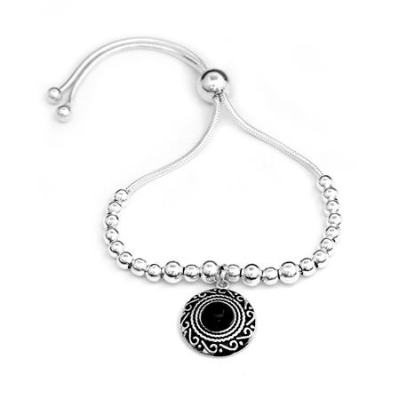 PULSERA PIEDRA NEGRA - REGULABLE