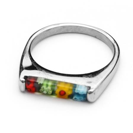 10 OFF - ANILLO RECTANGULAR MURANO