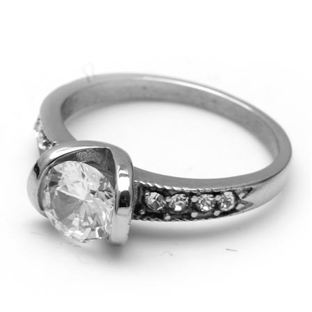 ANILLO CUBIC CRISTAL Y STRASS