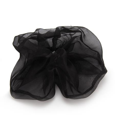 SCRUNCHIE XL NEGRA TRANSPARENTE