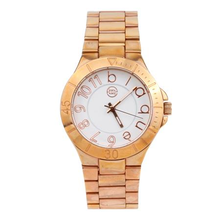 10 OFF - RELOJ ROSE FONDO BLANCO CON MALLA DE METAL
